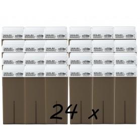 PACK 24 - ROLL ON WAX 100ML - CHOCOLATE