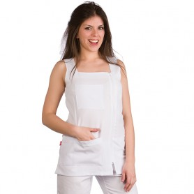 WHITE GOWN - PLAIN ZIPPER MODEL