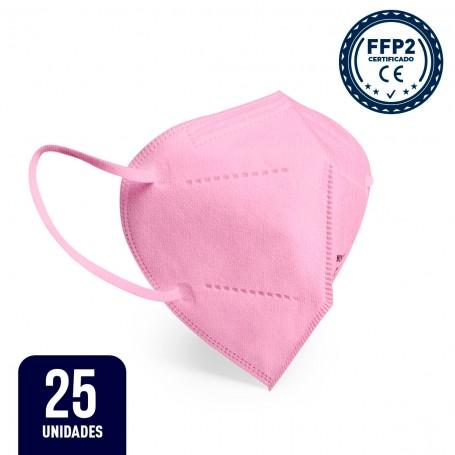25 x Mascarilla FFP2 - Rosa